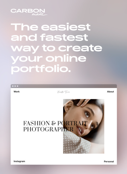 Carbonmade: The easiest and fastest way to create your online portfolio