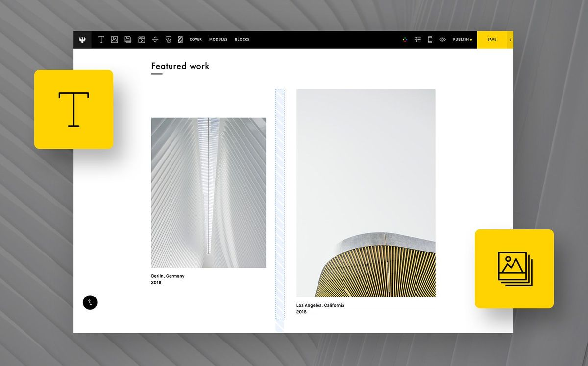 How to create a one-page portfolio with Semplice