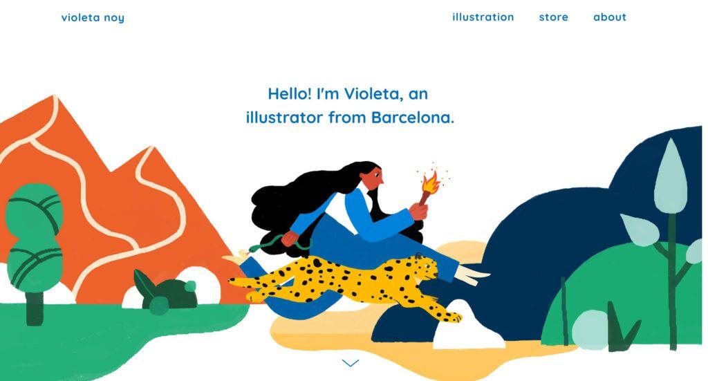 A simple, straightforward intro on Violeta Noy's portfolio