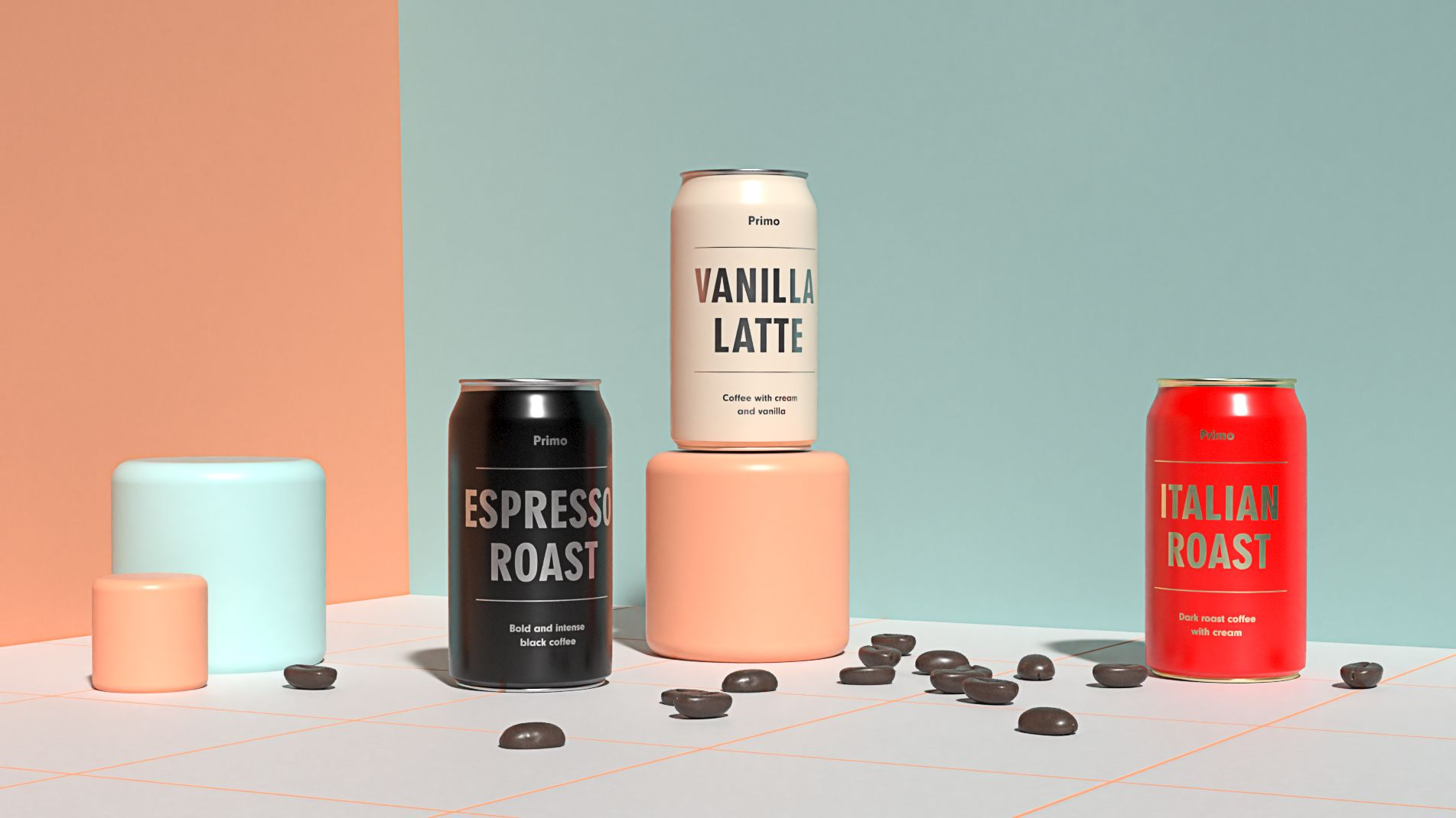 3D renderings of packaging design using Adobe Dimension