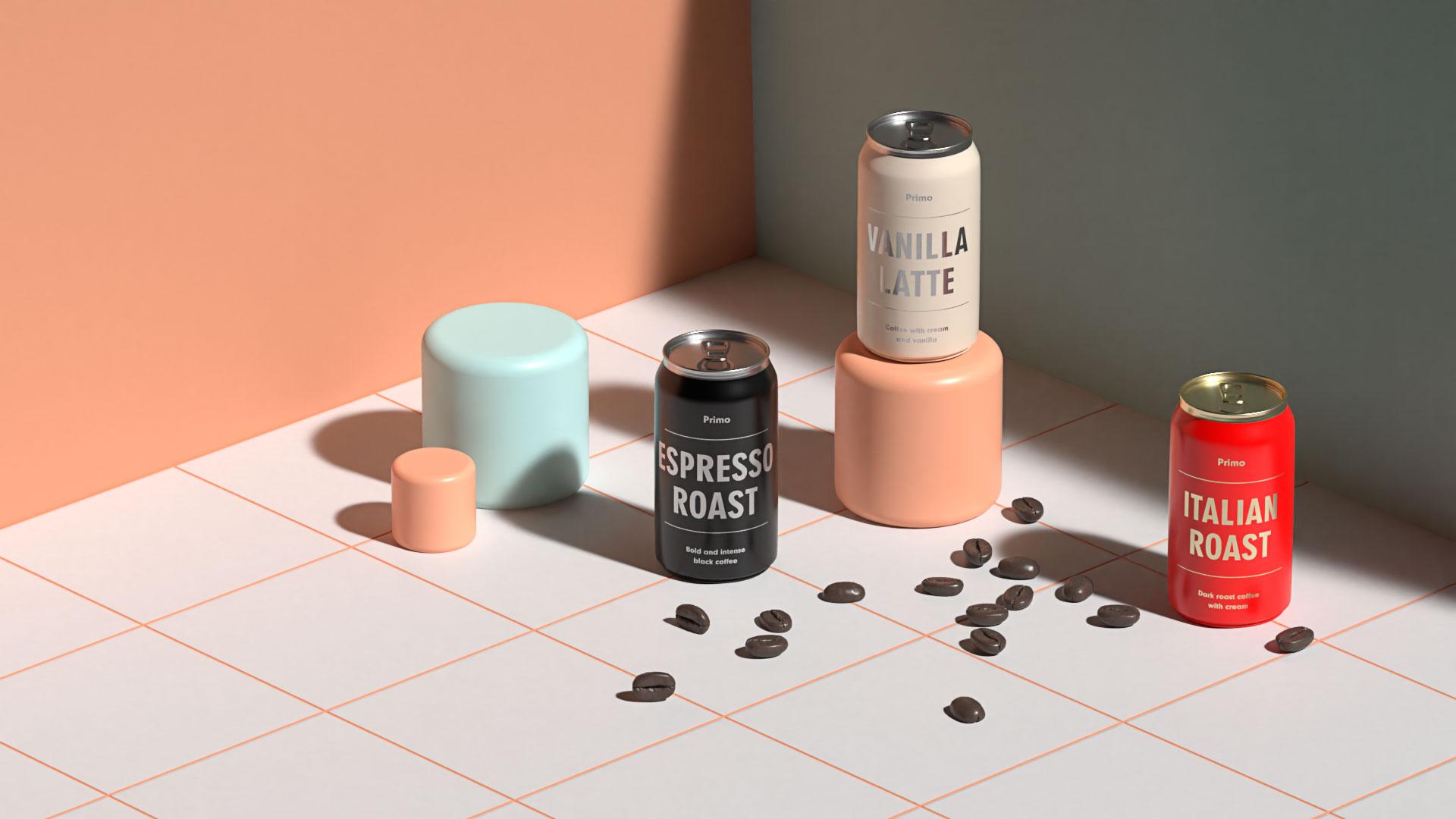 3D renderings of packaging design using Adobe Dimension