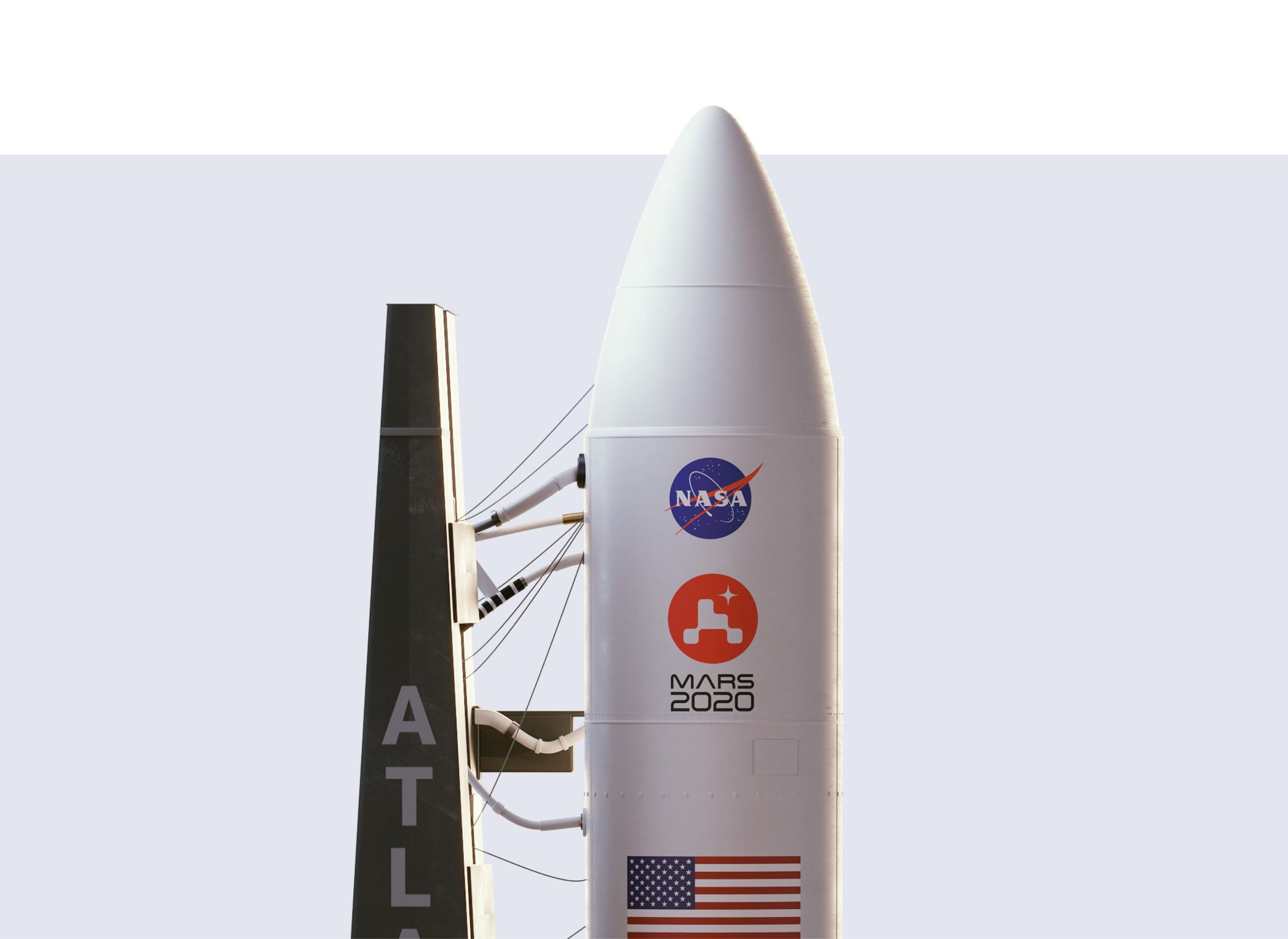 Mars 2020 Logo and Rocket by House of van Schneider